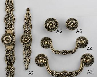 Knobs Dresser Knob Drawer Knobs Pulls Knobs Handles Antique Bronze Rustic Cabinet  Knobs Handle Pull Vintage