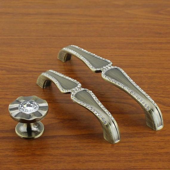 Glass Kitchen Cabinet Door Handles: Glass Dresser Pulls Drawer Pull Handles / Crystal Cabinet