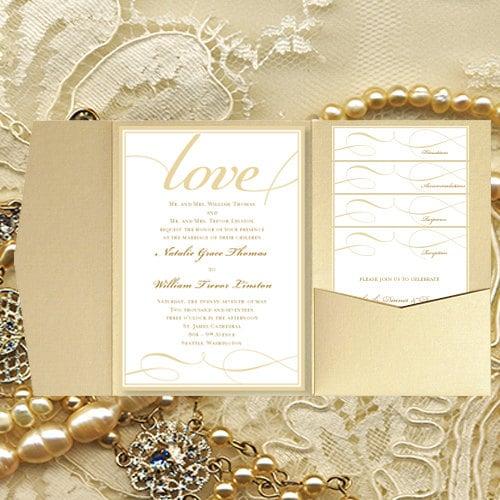 diy pocket wedding invitations it's love,
