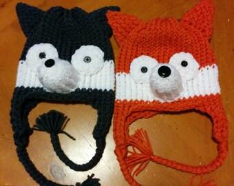 Fox Ear-flap Hat