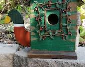 UnIQuE one of a KiND BiRdhoUSe-Mallard Duck