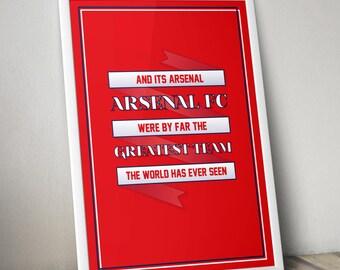 Arsenal FC - 'And It's Arsenal' Chant Print