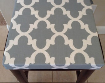 Dining chair cushion etsy - Orange kitchen chair cushions ...