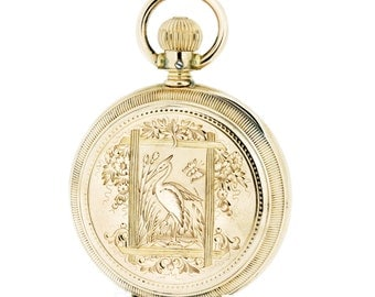 14K Rose Gold Agassiz Pocket Watch Lever Set