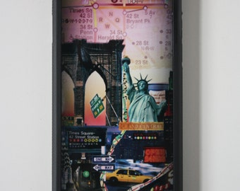 Iphone 6 case Brooklyn bridge iphone 6 cover Statue of Liberty New York photography printed Iphone 6 case Cool New York Iphone case
