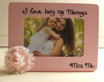 Mother's Day Gift Mini Me Frame Personalized frames Mommy and Me frame Baby girl frames Mommy and daughter frame Pink Mom frame Cottage Chic