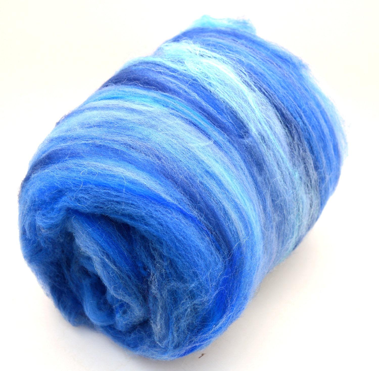 Fiber art batt superwash nylon spinning batt hand dyed for Fiber batt