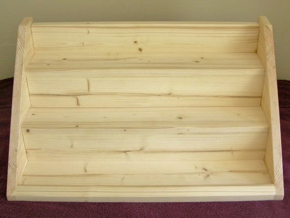 Craft Show Display Stand Wooden 3 Shelf Rack For Soaps