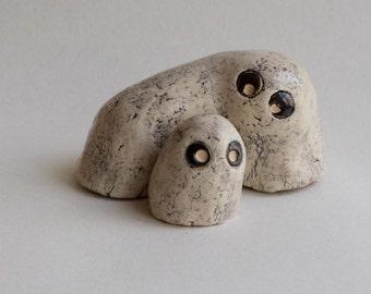 Interior Ceramic  figurine .White clay.