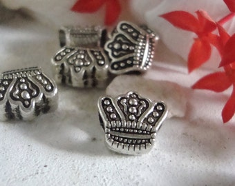 Crown Jewelry Beads, 5 Beads