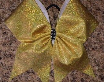 Gold Hologram Cheer Bow