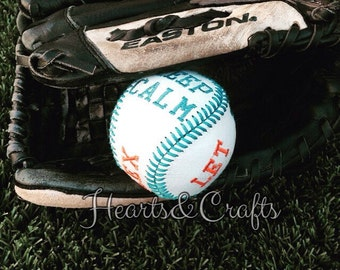 Customized embroidered baseballs