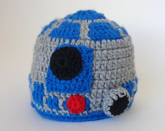 R2D2 Droid Hat From Star Wars Costume For Boy Premie, Newborn, Child, Teen, Adult - HalloweenWig / Cosplay Wig