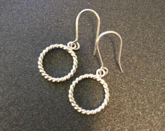 sterling silver simple earrings