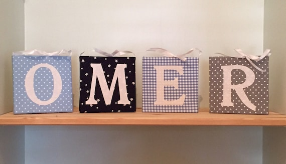 Nursery Decor Hanging Wall Letters : Wall letters for nursery personalized baby name decor by nuppi