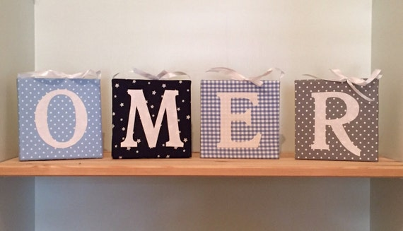Personalized Wall Decor Letters : Wall letters for nursery personalized baby name decor by nuppi