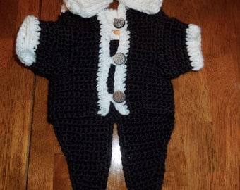 Dog Tuxedo!! This handsome tuxedo can be made in any size! Great gift! FREE STANDARD SHIPPING!!!