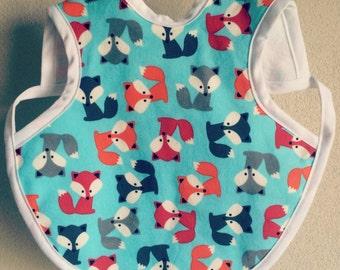 Fox Bapron, Fox Baby, Baby Bib, 6-18 months, 24 Months-3T, Bapron, Fox Bib, What Does the Fox Say Bib, Bib, Baby Shower Gift