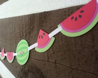 6ft Watermelon Birthday Party Garland!!