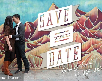 Retro Banner Save the Date