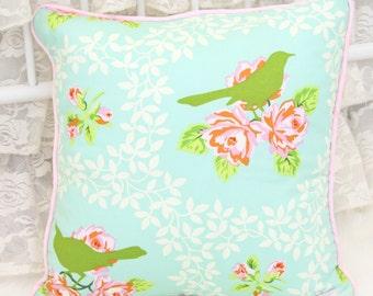 Evies Ivory Vintage Lace Square Pillow | Vintage Nursery Design