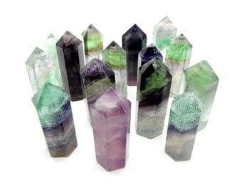 Fluorite Point - Reiki - Chakra -Power Stone - Jewelry Making  (RK14B14)