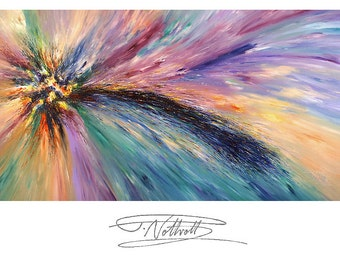 """130.0 """" x 67.0 """" XL Large Abstract Painting Original XL Acrylic Canvas Big Size Abstrakt Großes Gemälde ,UNSTRETCHED! by Peter Nottrott"""