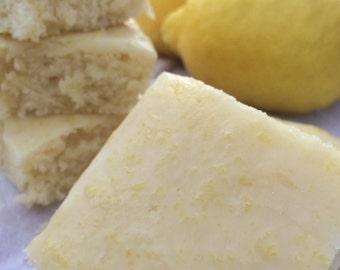 Lemon Brownies-Bars with Lemon Glaze