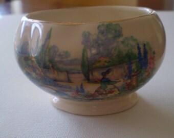 "Lancaster Sandland English Ware Posy Pot  ""In An Old World Garden"""
