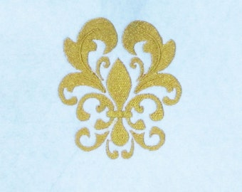 Fleur de Lis Damask Embroidery Design