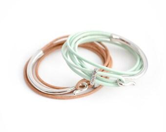 Customizable Leather Hook Bracelet