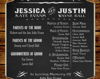 Rustic Country Wedding Program