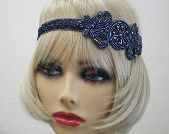 Silver flapper headband, 1920s headpiece, Hollywood Star, Gatsby headpiece, Gatsby prom, 1920s costume, roaring 20s,
