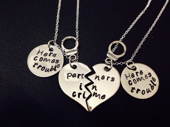 partners in crime necklace here comes trouble sted