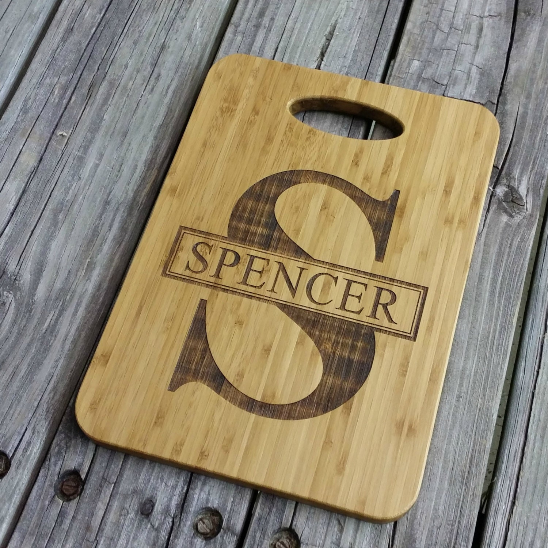Personalized Cutting Boards ~ Custom cutting board personalized bamboo