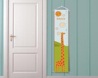 "Personalized ""Happy Giraffe"" Growth Chart"