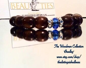 """The Woodmen Collection """"Bradley"""" Wooden Male Bracelet"""