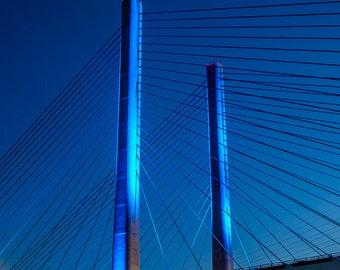 Indian River Bridge with Moon