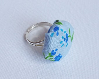 Floral Fabric Ring
