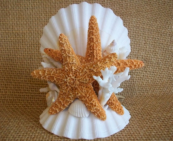 Beach Theme Wedding Starfish Coral Amp By SeashellBeachDesigns