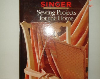 "Vintage 1991 ""Singer Sewing Projects for the Home"" hardcover Book  NM"