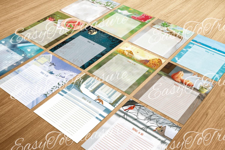 Digital Download Printable DIY Monthly Calendar To Do Lists
