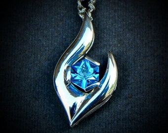 Swiss blue topaz necklace - pendant - 925 Sterling  silver - December birthstone - gemstone jewelry