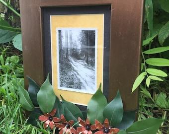Enchanted Forest Vintage Photo in Embellished Frame