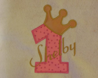Princess First Birthday with Name