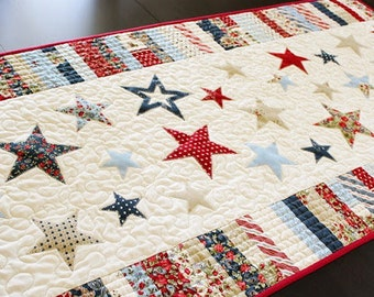 Pattern - Spangled Table Runner Quilt Pattern by Frivolous Necessity