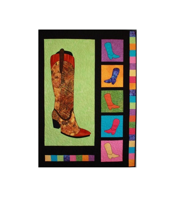 Bj designs patterns boot scootin applique by for Bj custom designs