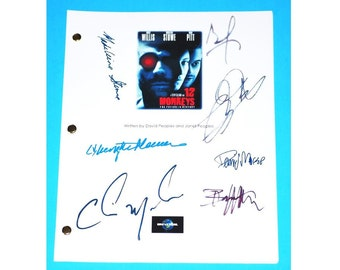 12 Monkeys Signed Script Bruce Willis, Brad Pitt, Christopher Plummer, Terry Gilliam, Christopher Meloni