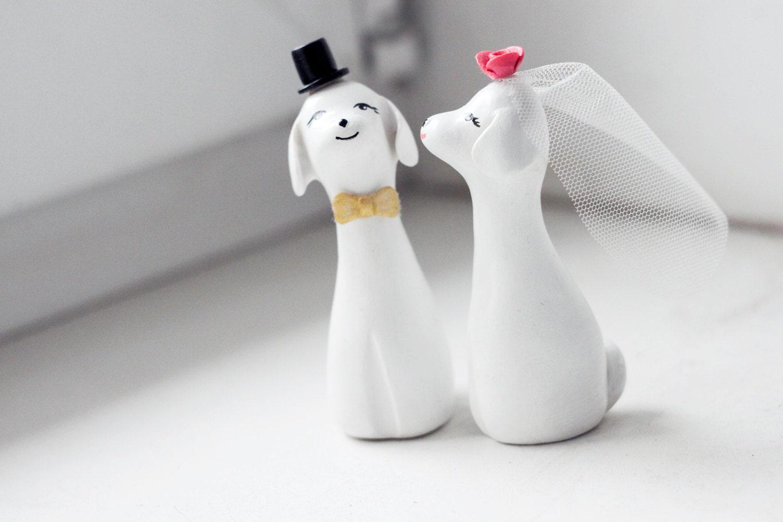 Wedding Cake Topper Dog Cake Topper Love Dogs