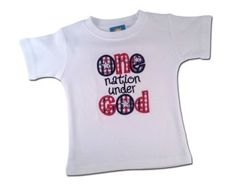 """Boy's Patriotic Shirt with """"One Nation Under God"""""""